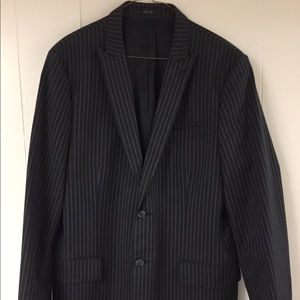Express Casual Blazer Mens 42 R Black Pinstripe